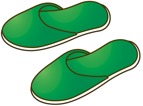 Vinyl slipper green