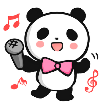 Panda 3 with microphone