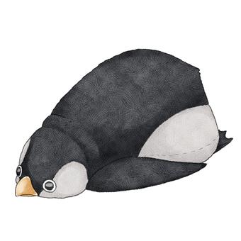 Penguin animal stuffed toy illustration