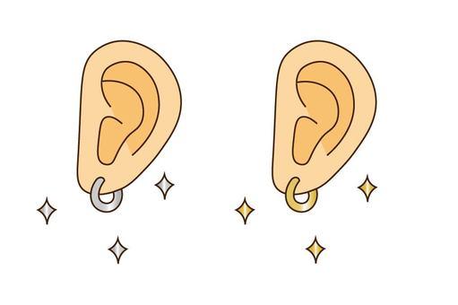 Pierced ears