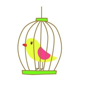 Bird of basket (yellow)