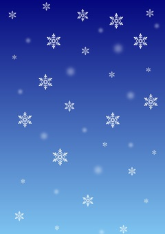 Snowy night sky