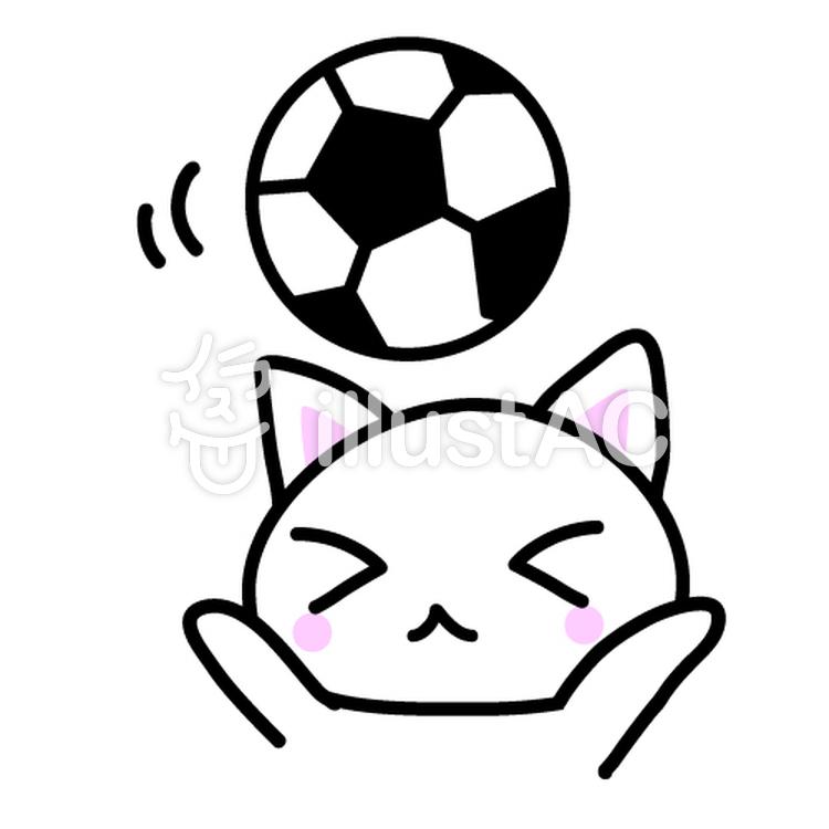 猫とサッカーボールイラスト No 74694無料イラストならイラストac