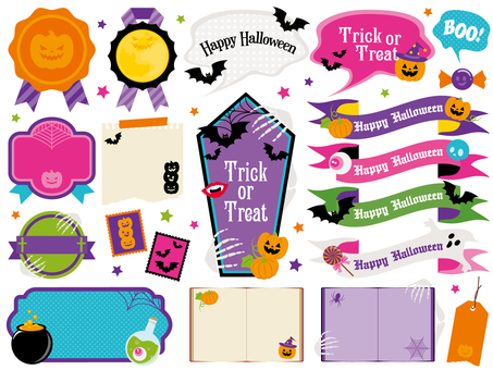 Halloween decorative frame various