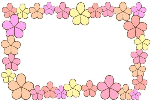 Flower frame (warm color system)