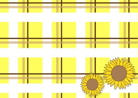 Sunflower check pattern