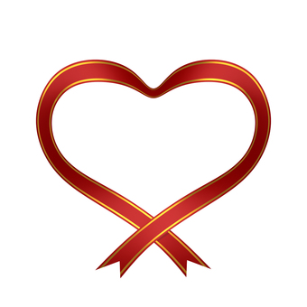 Ribbon Heart Red (clipped)