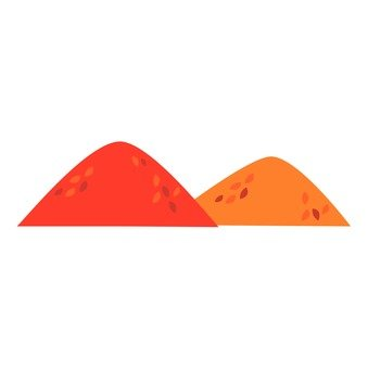 A mountain that is turning red