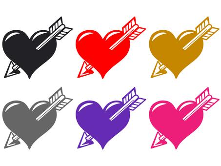 Arrow stuck in the heart