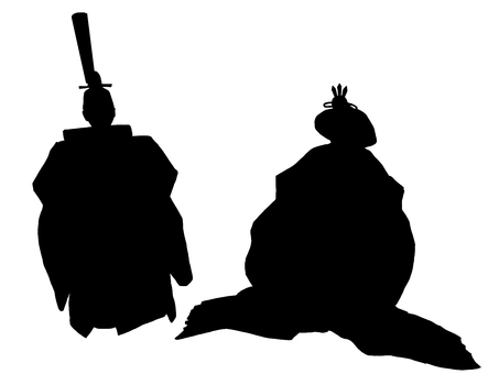 The inside and the back of the chick silhouette