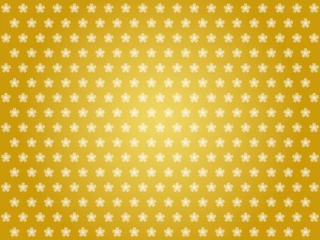 Cherry blossom pattern background (gold)