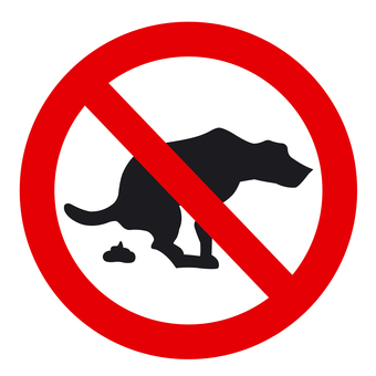 애완 동물 금지 마크