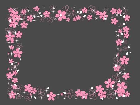 Cherry blossom frame 1