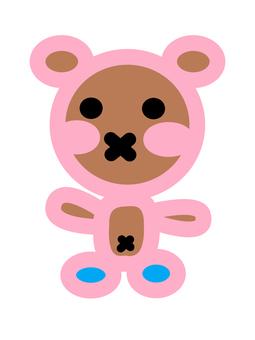 Hen bear mascot character illustration
