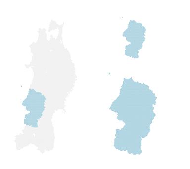 Dot map Yamagata 2