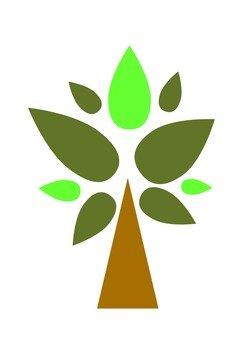 Modern tree 1 (green)