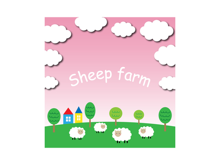 Farm illustration of sheep