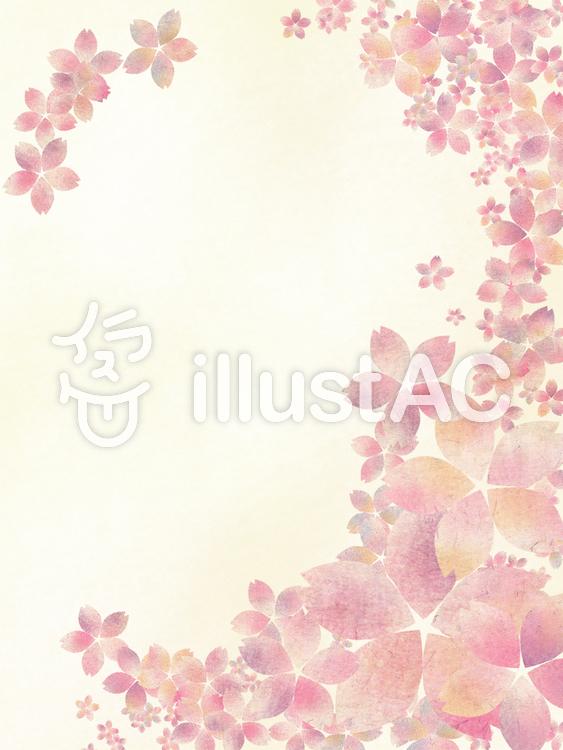 【フリーイラスト素材】和柄風桜の花3
