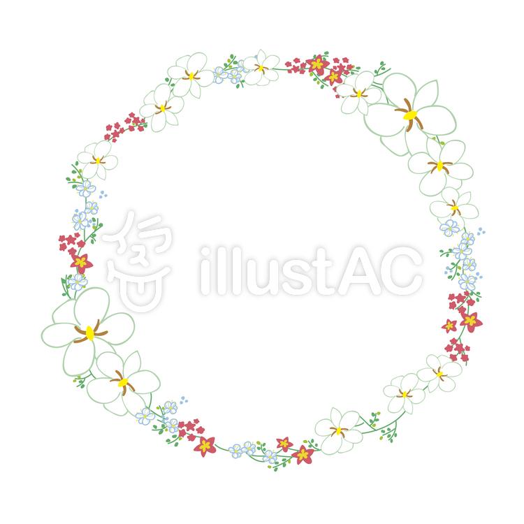 花 かん むり イラスト