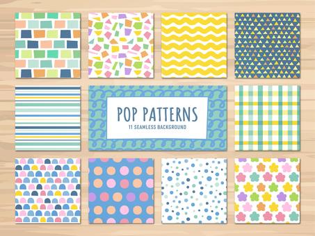 A hand-drawn style pop pattern
