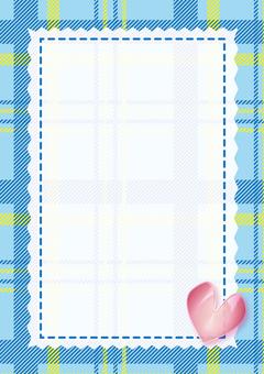 Girly card (light blue)
