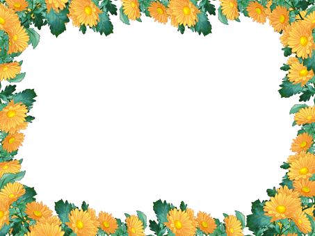 소국 프레임 (노랑)