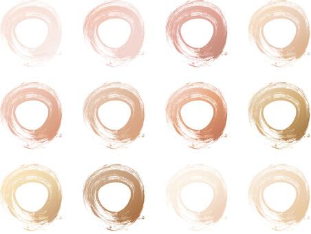 Gradient Brown Brown Round Round Frame Picture