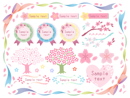 Colorful cherry sets