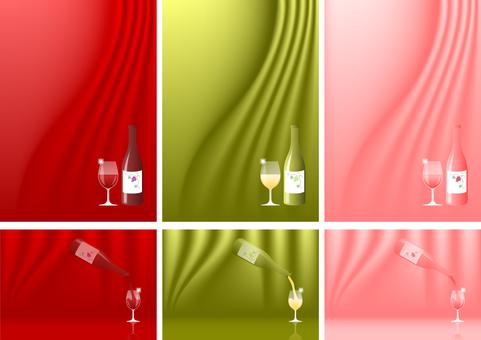 Background Cloth-style wine set
