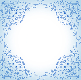 Antique decorative frame blue