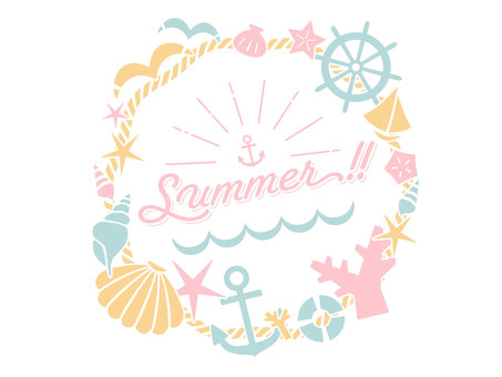 Summer pastel message card