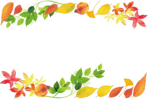 Watercolor Wind Dead leaf frame part 1