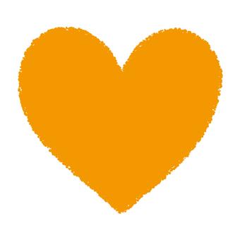 Hand-painted heart _ Betta _ yellow