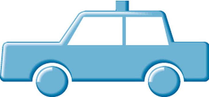 Taxi icon blue