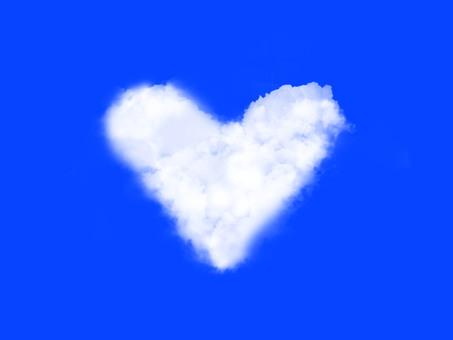 Heart cloud background 3