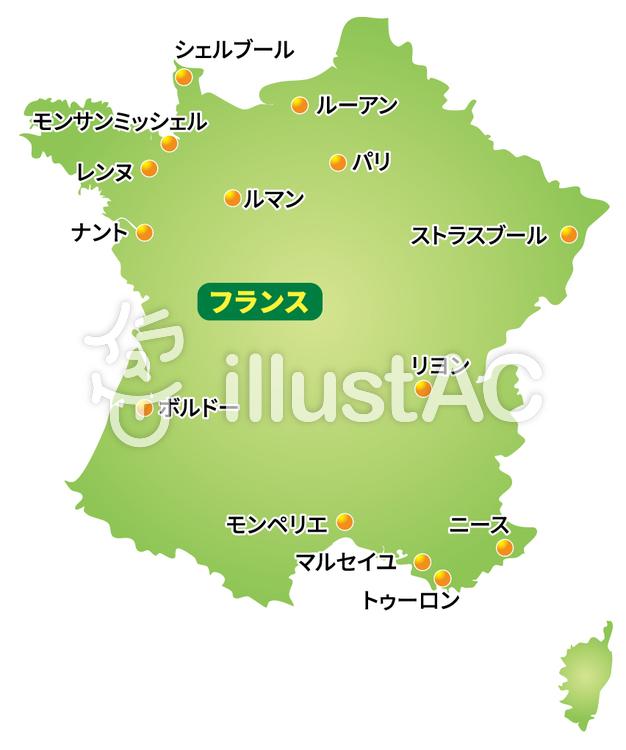 フランス地図イラスト No 524133無料イラストならイラストac