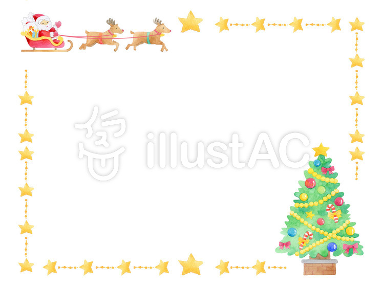 クリスマス枠 0442 Cイラスト No 642509無料イラストなら