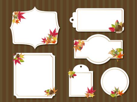 Various autumn decorative frames