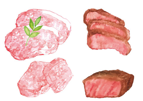 """Watercolor style"" meat"