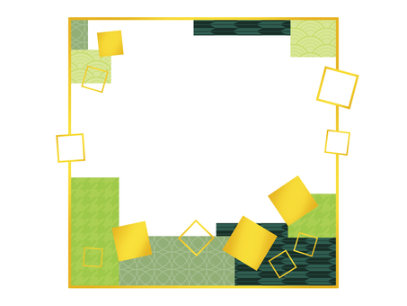 Square and Japanese style frame