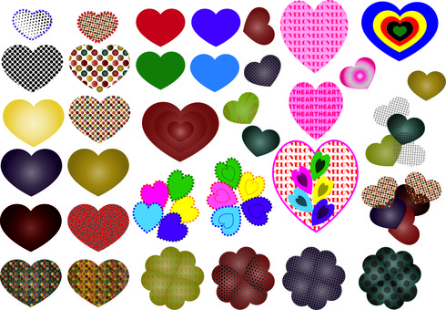 Heart pattern various