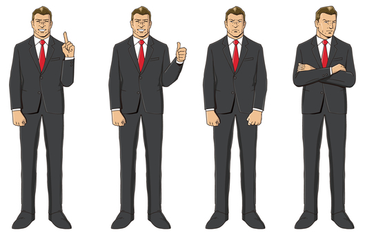 A red neck tie businessman