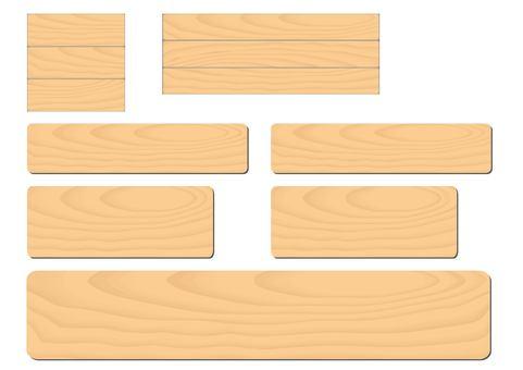 Wood plank texture set