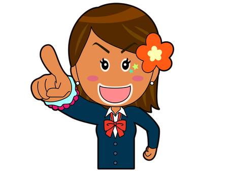 Pointing _ Kogal Schoolgirl A_049