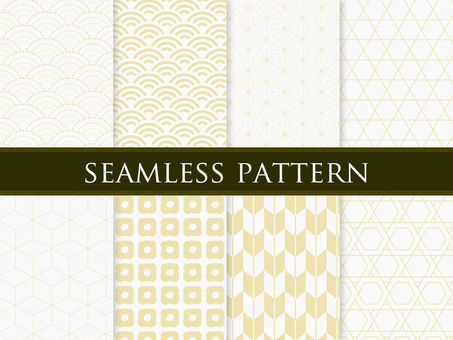 Japanese pattern pattern golden