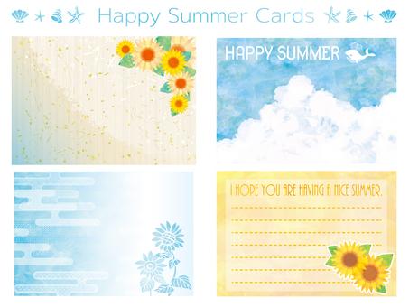 Frame, summer greeting card, summer greeting card