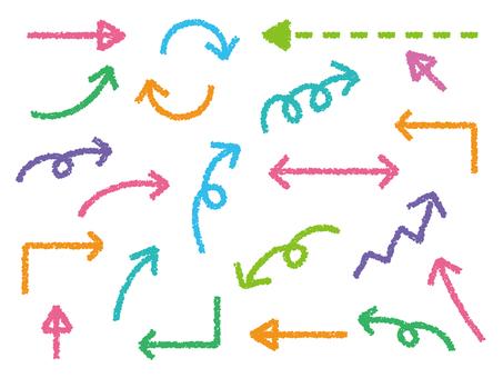 Crayon style arrow set