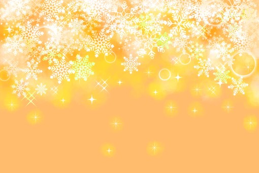 Snow background Orange