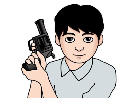 권총을두고 (8) 남자