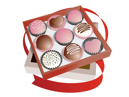 Boxed truffle chocolate